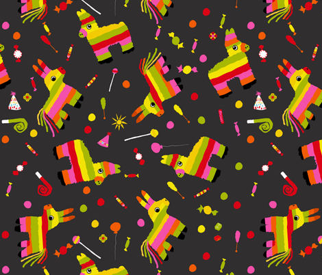 Piñata Party  fabric by onelittleprintshop on Spoonflower - custom fabric