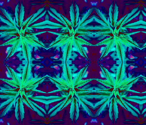 Just a pretty garden weed fabric by tinkavision on Spoonflower - custom fabric