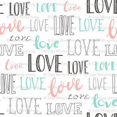 Love Word Typography Valentine