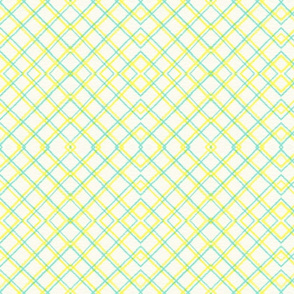 Teal Yellow Squares 2