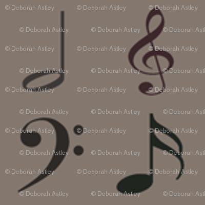 Musical Symbols Subdued