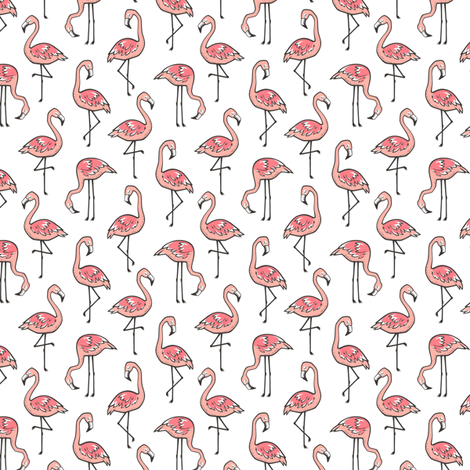 Flamingo Peach 1,5 inch fabric by caja_design on Spoonflower - custom fabric