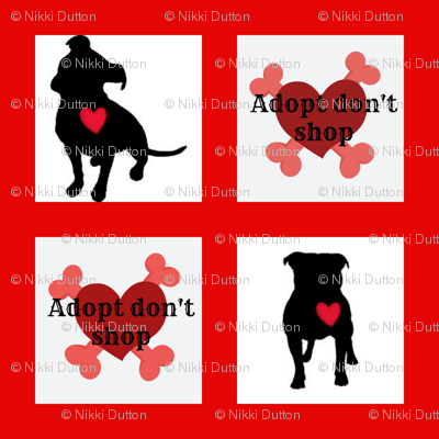 Staffie adoption quilt block (3)