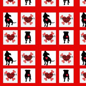 Staffie adoption quilt block (3)
