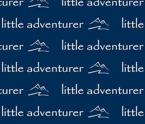 little adventurer // navy fabric by buckwoodsdesignco on Spoonflower - custom fabric