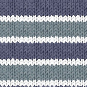 Blue Knitted Stripes