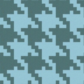 Tweedy Blue Green Houndstooth