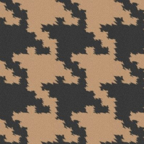 Charcoal and Sand Jagged Houndstooth