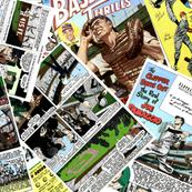 vintage comic book baseball - LARGE PRINT