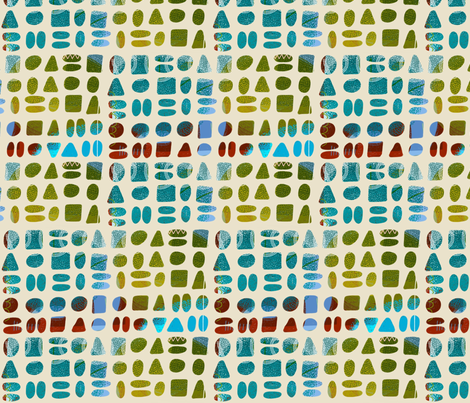 soft shapes fabric by kimmurton on Spoonflower - custom fabric