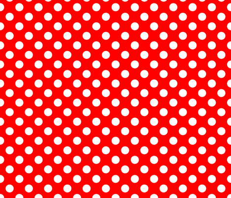 Red-White_polka-dots fabric by stradling_designs on Spoonflower - custom fabric