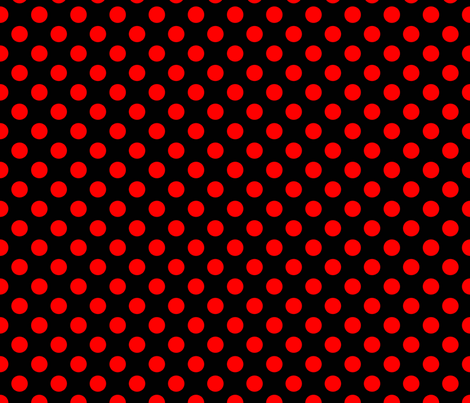 Black-Red_polka-dots fabric by stradling_designs on Spoonflower - custom fabric