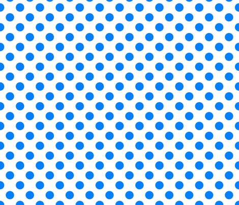 White-Blue_polka-dots fabric by stradling_designs on Spoonflower - custom fabric