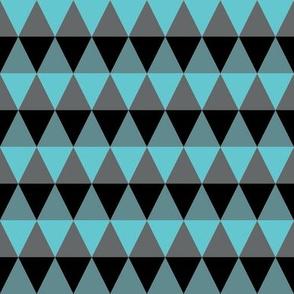 Triangle Aqua and Grey