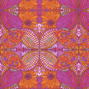 Magenta_Orange_Floral