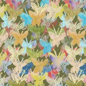 Potato Print Butterflies