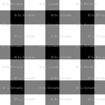 Classic black + white plaid by Su_G