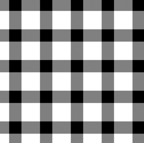 Classic black + white plaid by Su_G fabric by su_g on Spoonflower - custom fabric