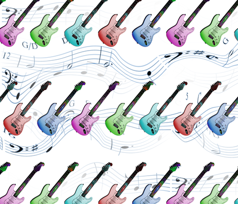 Rock N Roll fabric by farrellart on Spoonflower - custom fabric