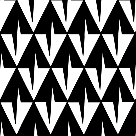 Toothy Black and White Diamonds fabric by eclectic_house on Spoonflower - custom fabric