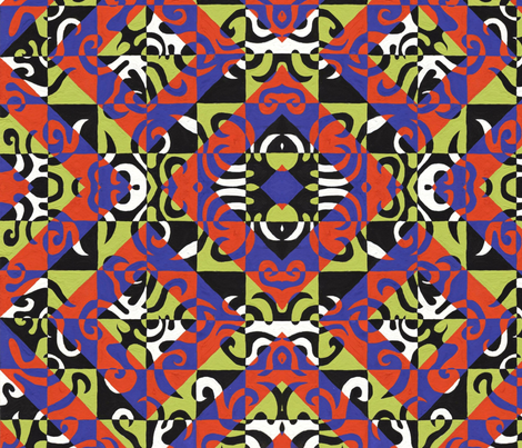 CheckerboardKaren fabric by garren on Spoonflower - custom fabric