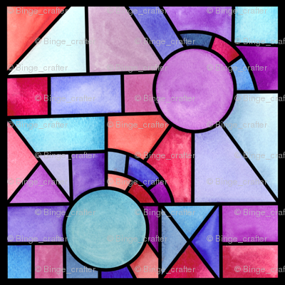 Watercolor Stained Glass Windows