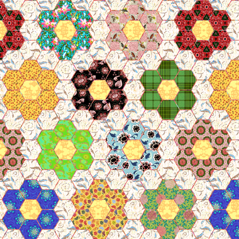 Grandmothers Flower Garden fabric by eclectic_house on Spoonflower - custom fabric