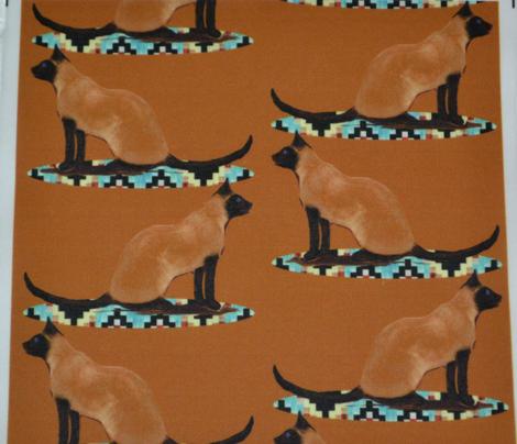 Siamese Cat on Rug