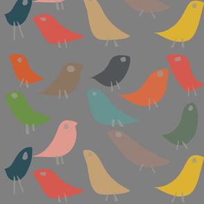 The Birds on Gray