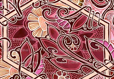 Twisted Vine Red Design