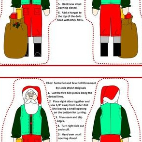 Yikes! Santa Cut and Sew Doll #5