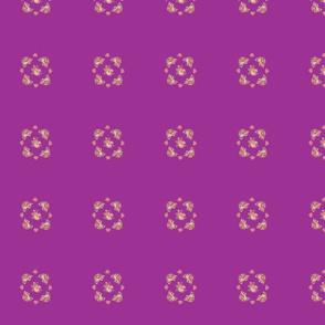 Vintage pink roses quilt block (2)