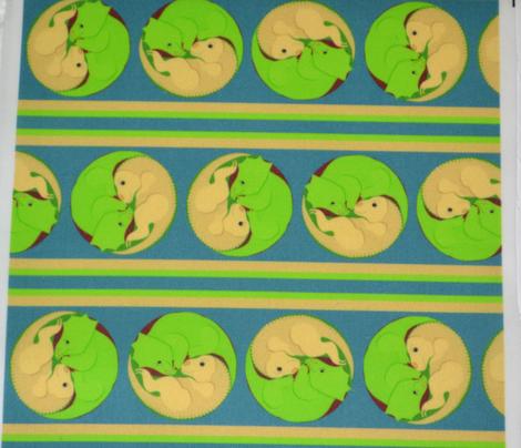 Yin Yang Dinosaurs Stripe