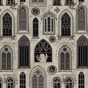 Medieval Gothic Church Windows