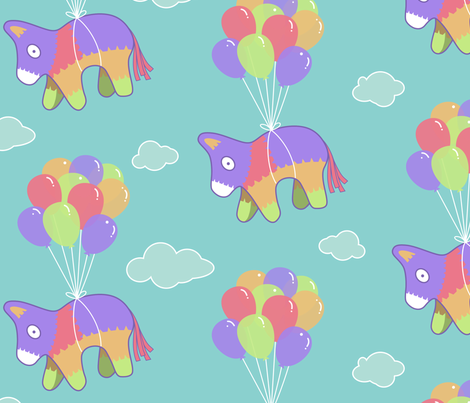 Piñata Escape fabric by mariafaithgarcia on Spoonflower - custom fabric