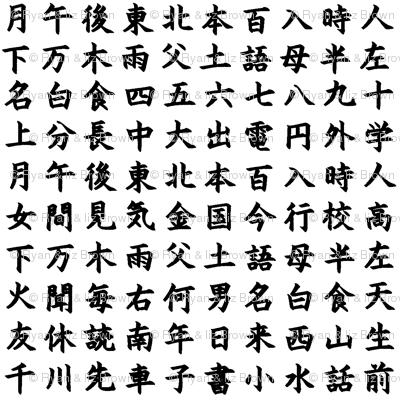 Kanji / Hànzì Characters // Small