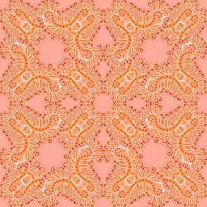 Feathery Orange Sherbet Kaleidoscope