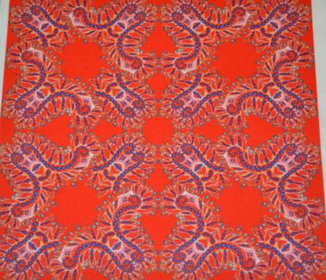 Feathery Bright Red Kaleidoscope