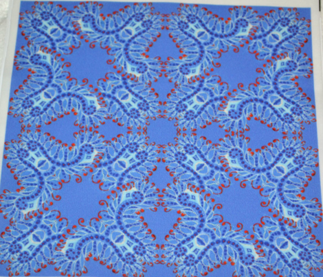 Feathery Blue Denim Kaleidoscope