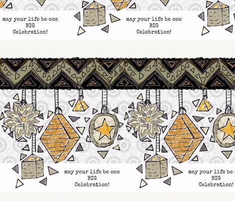 Celebrate Life Big fabric by inniv8z_oz on Spoonflower - custom fabric