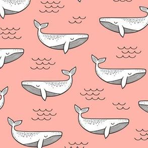 Whales on Peach