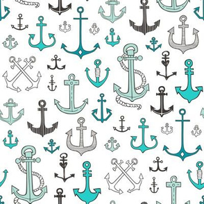 Anchors in Mint Green