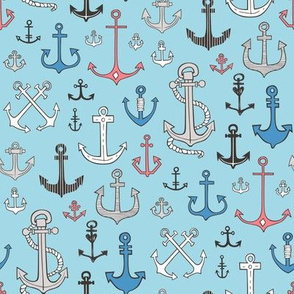 Anchors in Blue
