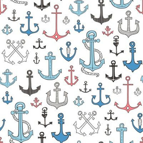 Anchors Black&White Blue and Red