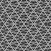 Manly be the force: dark on light gray Op Art nested diamonds by Su_G