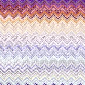 PENGUINS ZIGZAG Pastel coordinates mauve purple