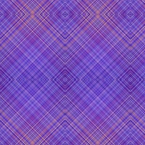 PENGUINS DIAGONAL PLAID 2 PURPLE COORDINATES