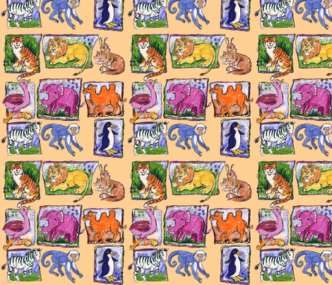 In_the_Zoo fabric by sandy_at_sound_of_wings on Spoonflower - custom fabric