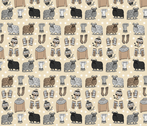 Icelandic_knits_2_medium fabric by leroyj on Spoonflower - custom fabric
