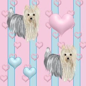 Yorkie - Pinky Co ordinating Fabric